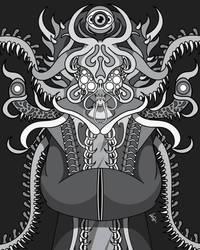 Nebula Lord (Grayscale) by MunchbudInk