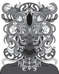 Nature's Wire (Grayscale) by MunchbudInk