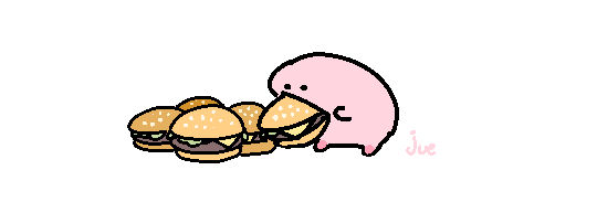 him busy eating burgies