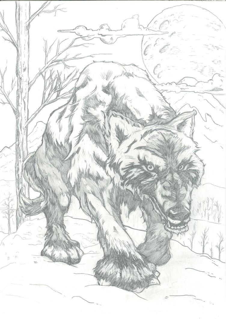 Night Wolf - - Mythology by sandrocosta