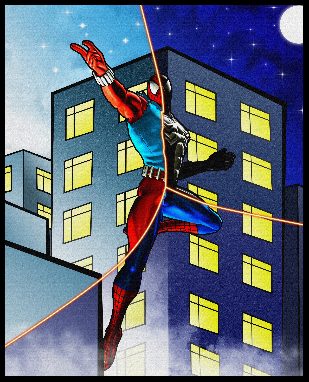 Scarlet Spider vs Spider Man 2099 Spider Man Scarlet Symbiote