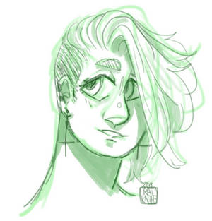 Swoopy hair (sketch comm)