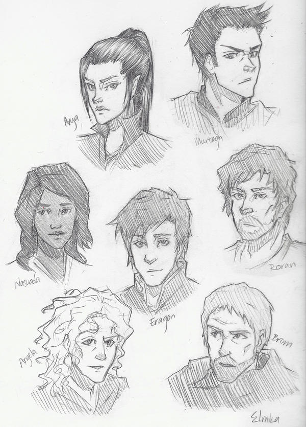 Eragon Book Characters Inheritance by icyreia...