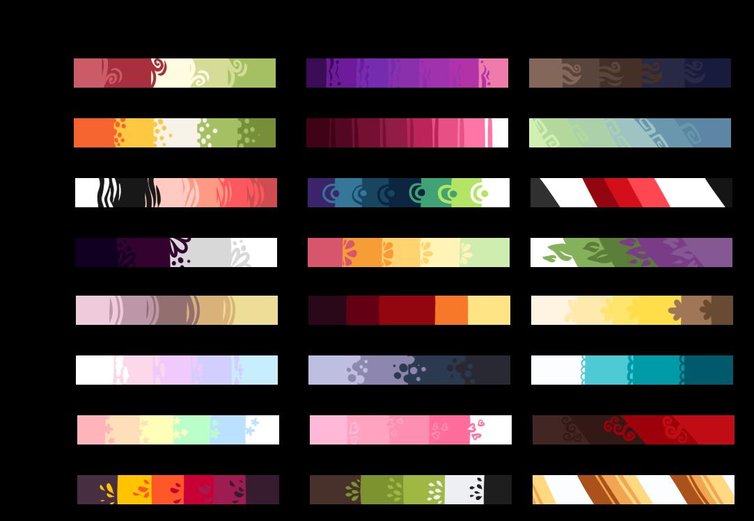 F2U Color Palettes by DojaTea on DeviantArt