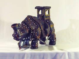 Steampunk Rhino by LindseyErin