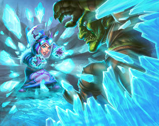 WoW TCG - Celee Cogfreeze by UdonCrew