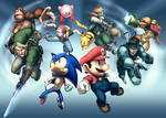 Gamepro Cover - Smash Bros by UdonCrew