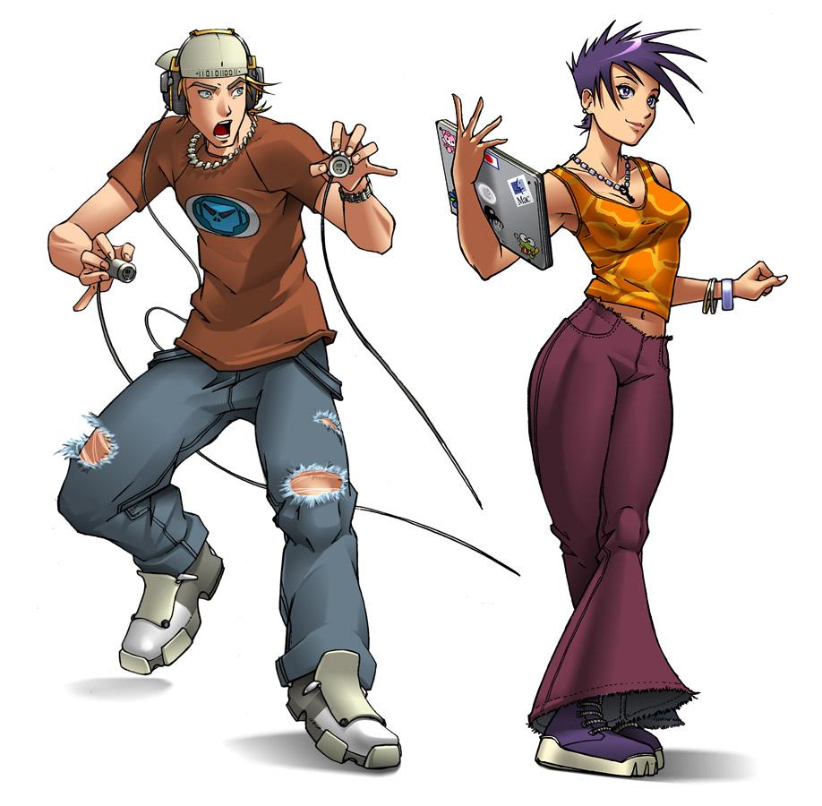 Two Hackers- Guru and Cheshire