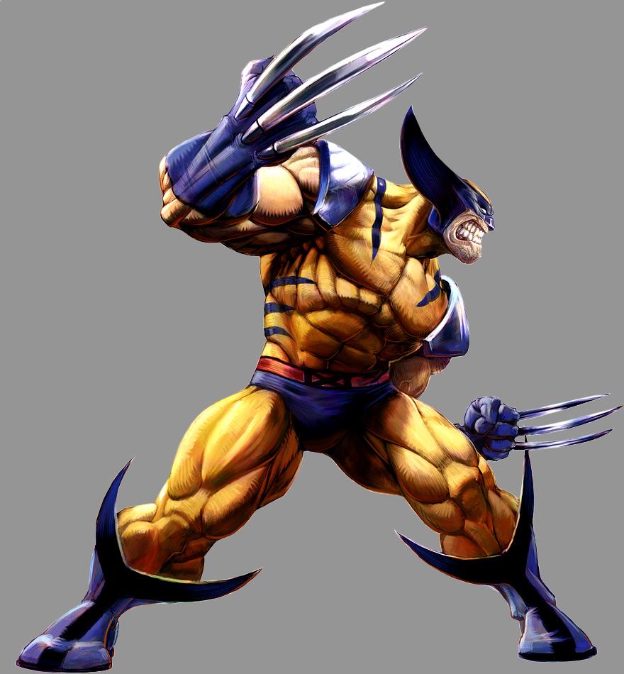 Marvel vs capcom 2 wolverine by udoncrew fan art digital art painting