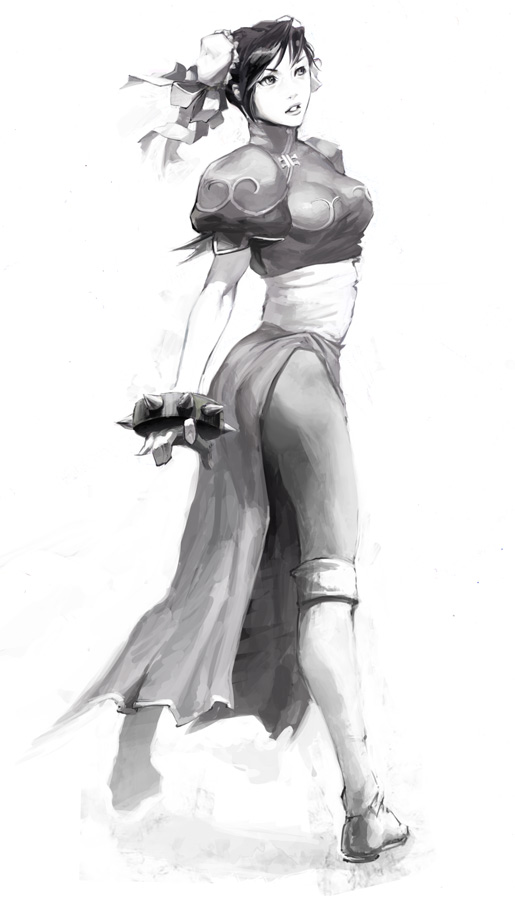 Chun-Li_Sketch by UdonCrew