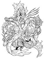 Elemental Dragons by UdonCrew