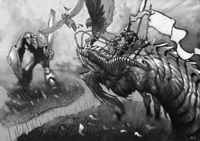 Warstrider VS Behemoth by UdonCrew