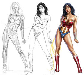 Wonder Woman Painting Tutorial