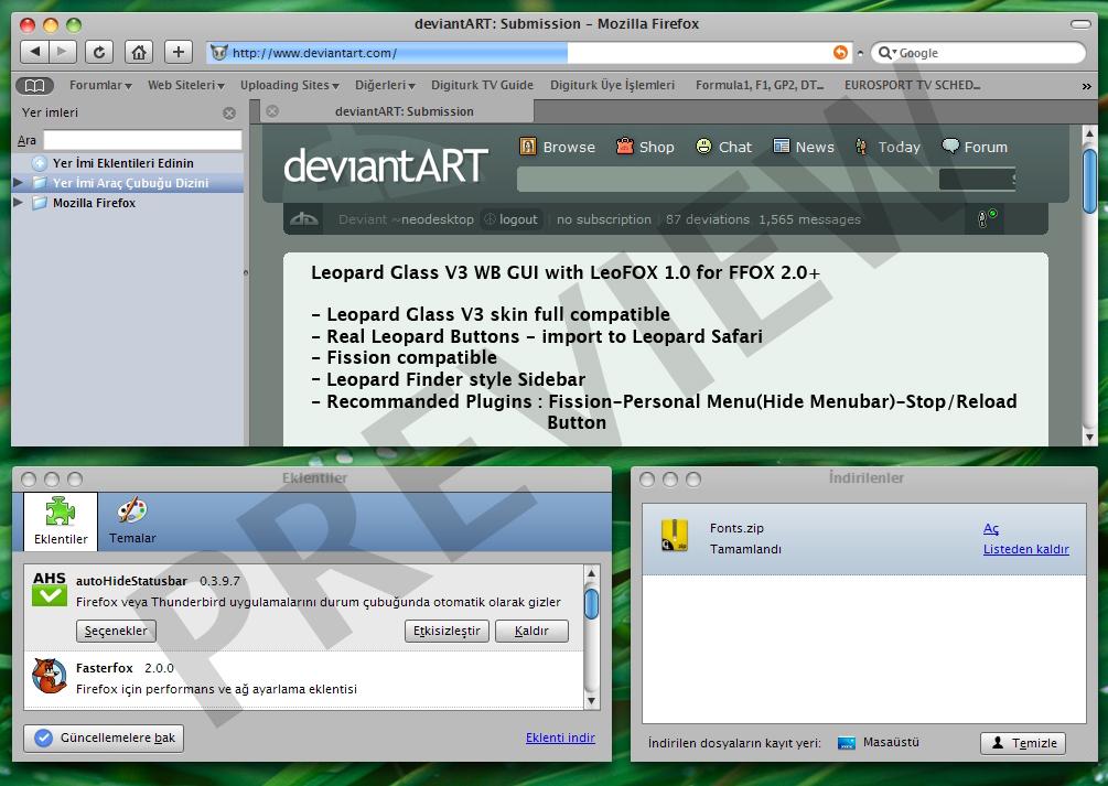 Leopard 3.0 Gui LeoFOX Preview by neodesktop