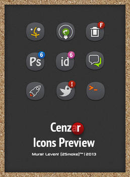 Cenza(r) Dock Icons Preview.