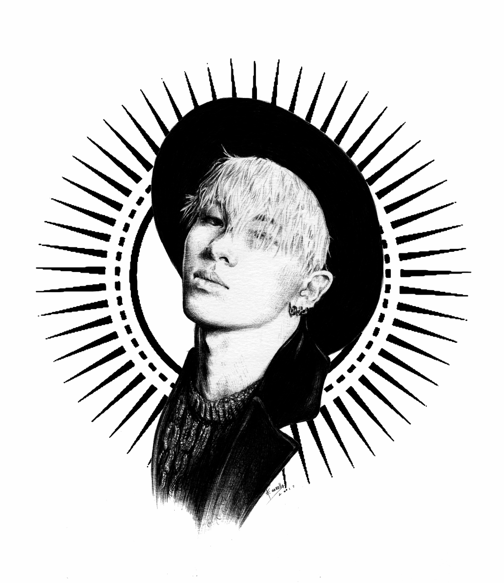 taeyang sketch 2 with solar logo by carellaart on deviantart