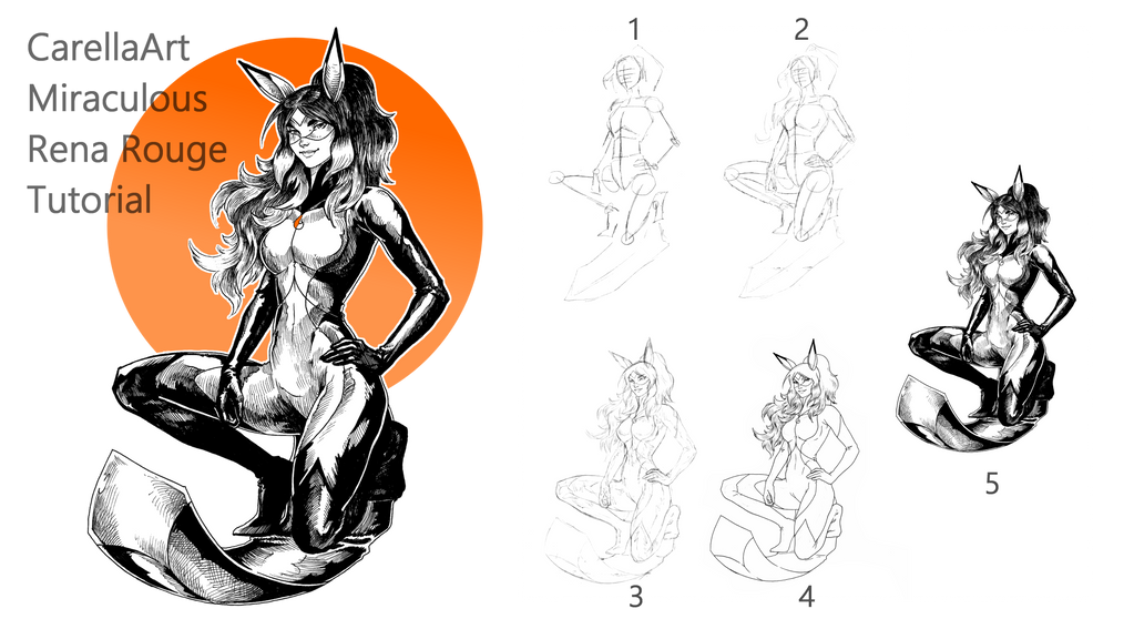 MIraculous Rena Rouge Tutorial Steps by Carella-Art on ...