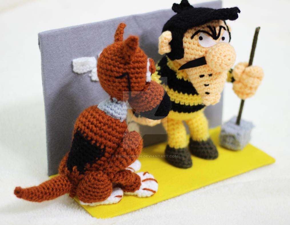Amigurumi Forum Net : Joe dalton and rantanplan crochet amigurumi plush by nhimcon1309 on