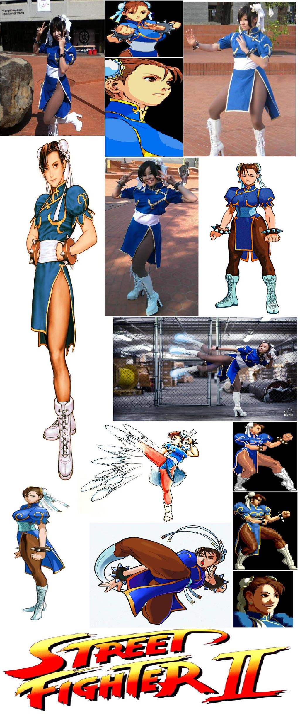 Chun Li Cosplay Collage by IronCobraAM