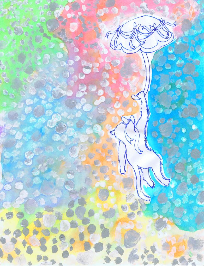 Umbrella Cat by brilliantgrey