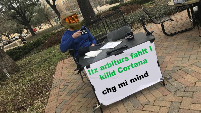 Arby n the Chief: Change My Mind (Meme) by CrackerHumps