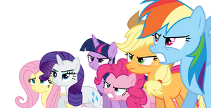 S05E09 Mane Six Ready to Battle