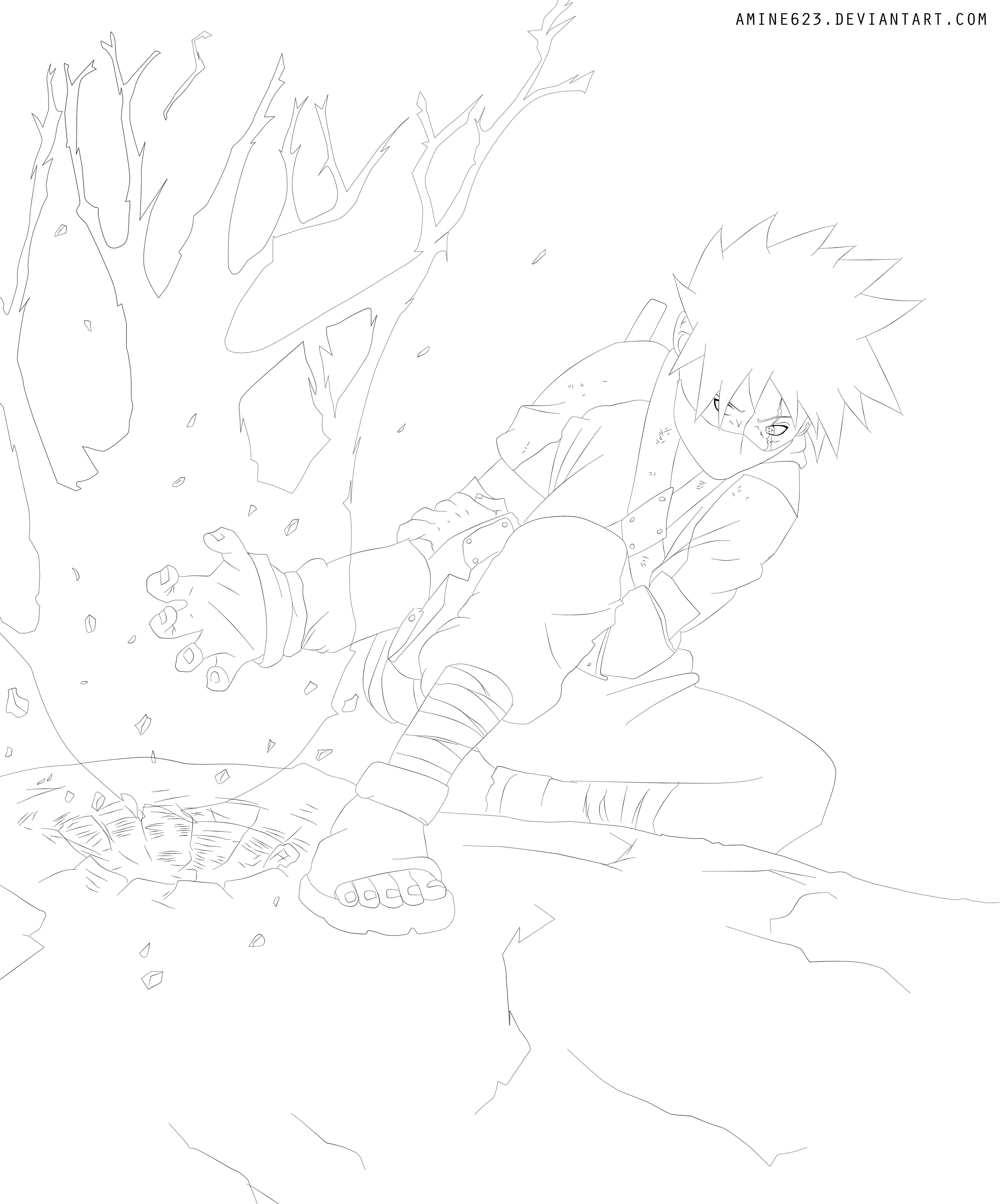 Kakashi Lineart : Kakashi gaiden lineart by ironizer on deviantart