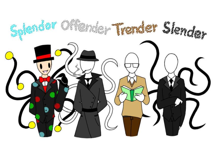Slenderman And Trenderman Slendy Family  Mature