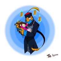 Present: Mr. Shina and Aiya by CreepyGreamArt