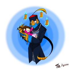 Present: Mr. Shina and Aiya by CreepyGreamArt