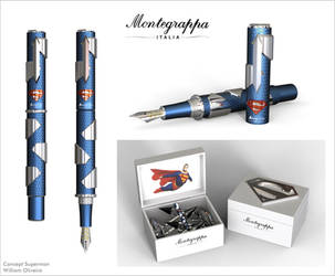 Montegrappa Superman Pen Concept by William-Oliveira