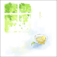 lemon tea in summer by luthienelf