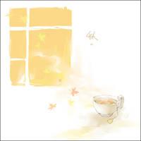milk tea in autumn by luthienelf