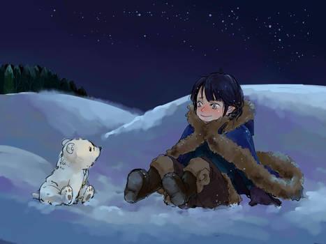 little Fingon and little polar bear
