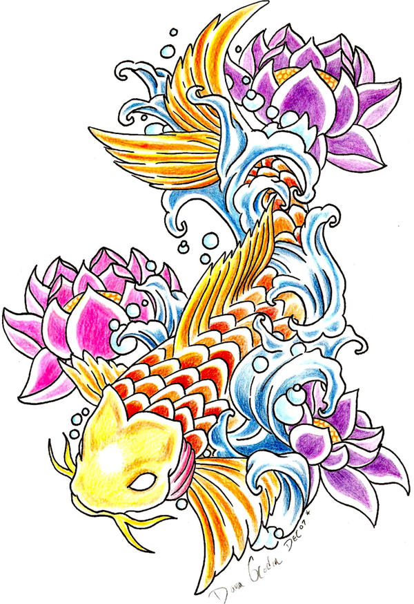 Japanese Koi Fish Tattoo Designs Gallery 30