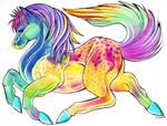 Rainbow horse adopt 8D