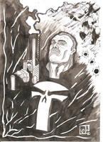 Punisher Sketch by CaptainSnikt