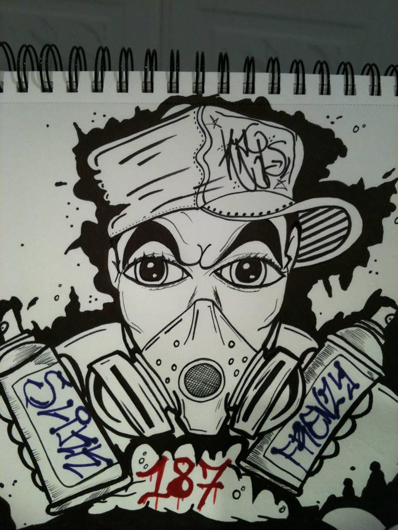 Graffiti dude by krislikk666