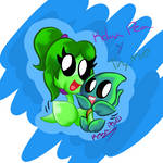 Art trade: Relax Pea y Thymie