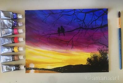 Love birds by AmanaArt