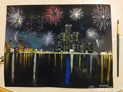 Happy New Year  by AmanaArt