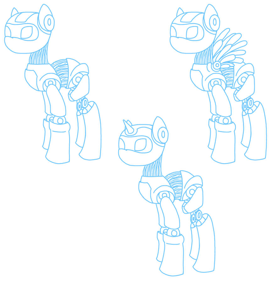 My Little Pony Robot Bases By Theblueprintforlife On Deviantart