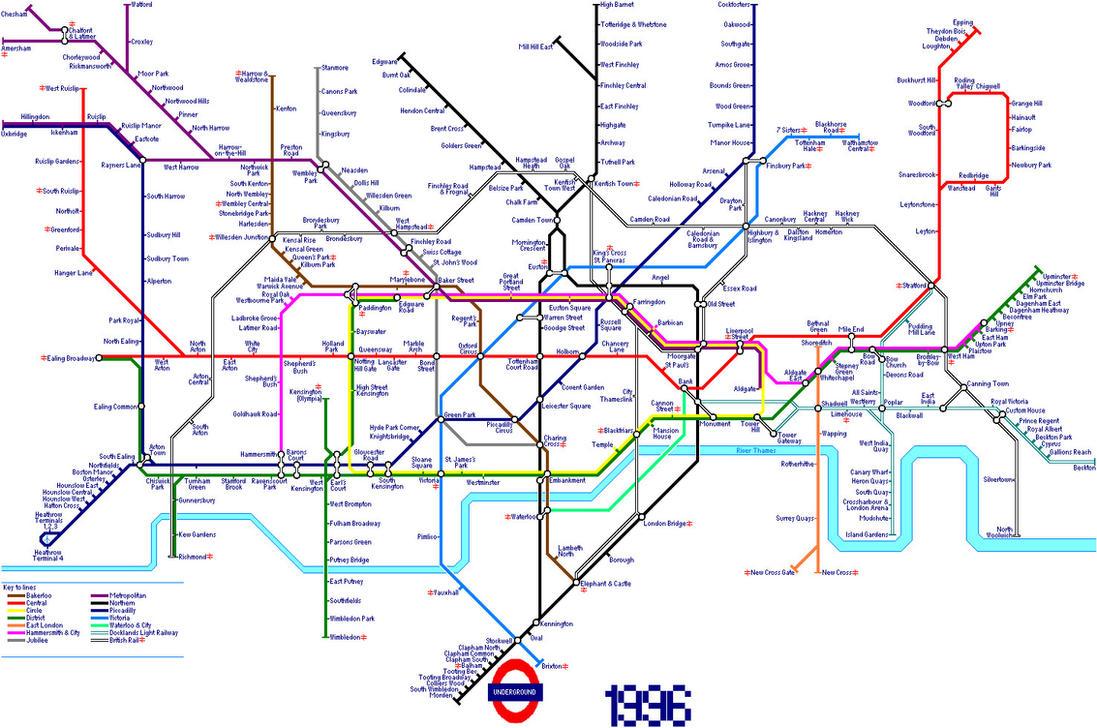 London Underground Map in 1996 by AndrewTiffin on DeviantArt