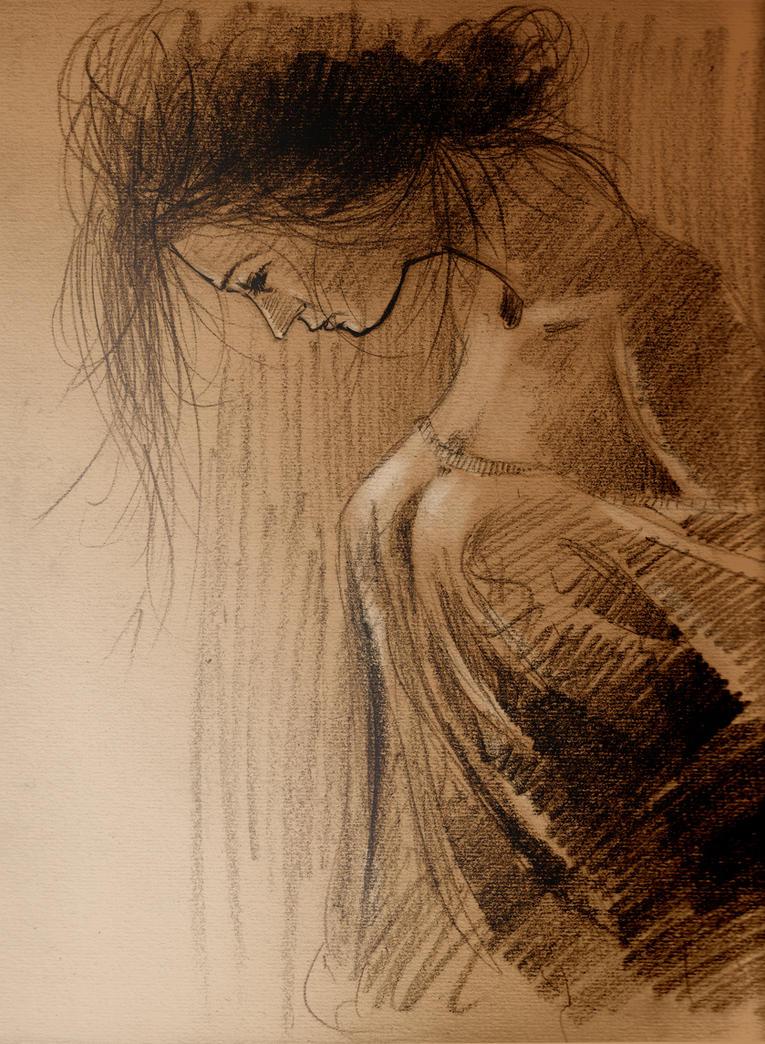 Woman Sketch by dabones