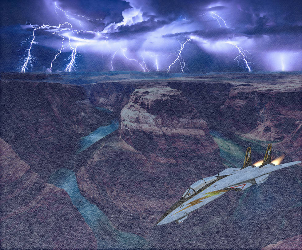 Canyon Storm Flight by Disco747