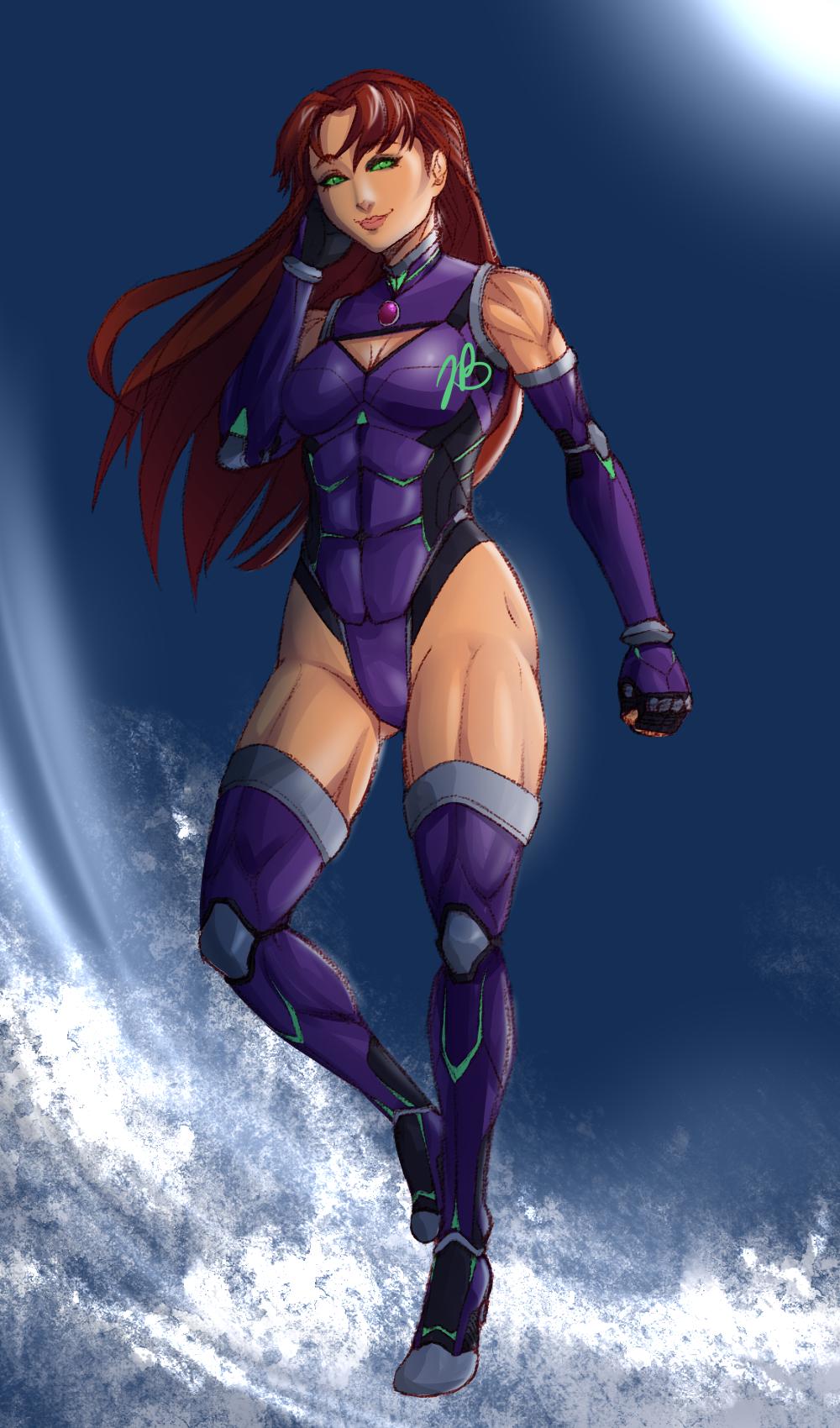 Starfire Sketch by Akari-Hikari