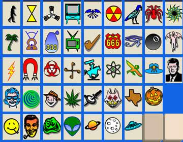 Mahjongg Subgenius tileset (KDE format) by LauraSeabrook