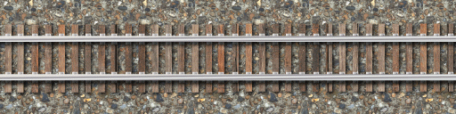 Straight Rail track v2.0 by LauraSeabrook