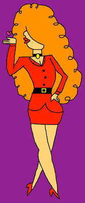 AT: Miss Bellum blowing a kiss