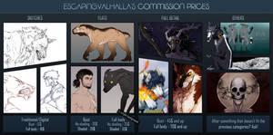 Commission prices [ON HIATUS] by Valehiisi